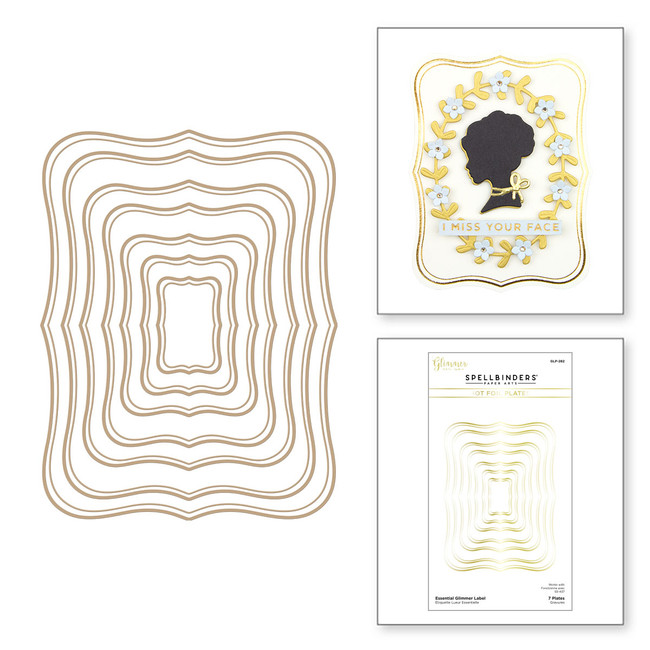 Essential Glimmer Label Glimmer Hot Foil Plate from Truly Yours Collection