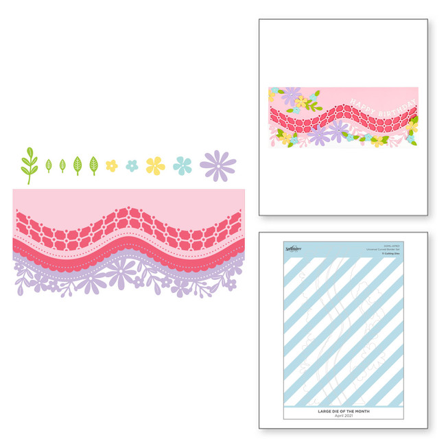 Universal Curved Border Set - Large Die of the Month