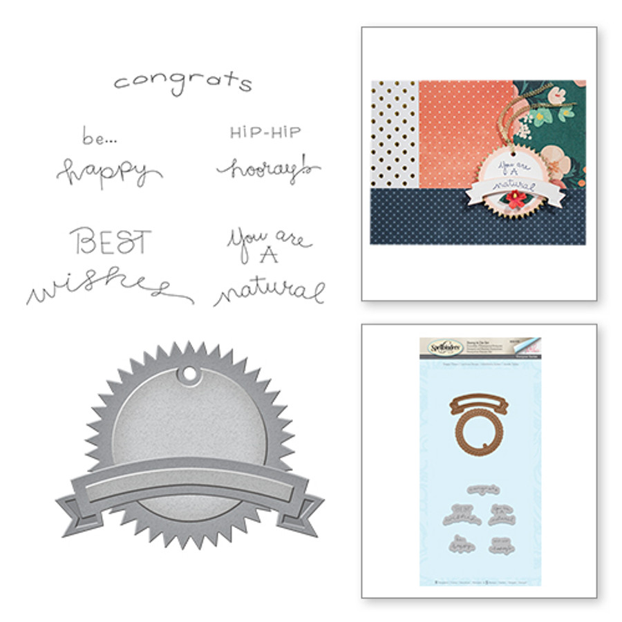 Quite Contrary Debi Adams Happy Times Stamp and Die Set