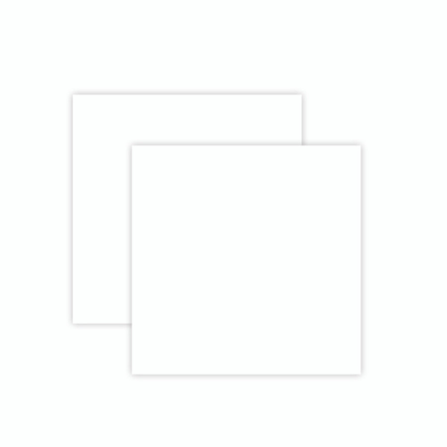 Platinum Pack 7 - 6 in x 6 in White Craft Foam Sheets (2 Pieces)