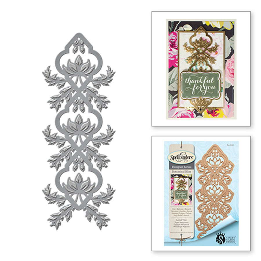 Shapeabilities Stacey Caron Botanical Bliss Lavish Vine Decorative Strip Etched Dies (S4-638)