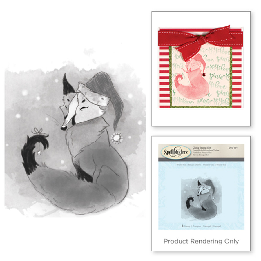 Winter Fox Holiday 3D Shading Stamps