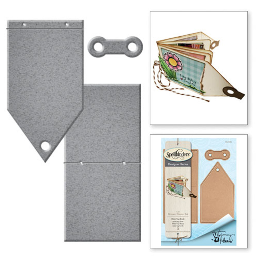 Shapeabilities Mini Tag Book Happy Grams by Tammy Tutterow Etched Dies