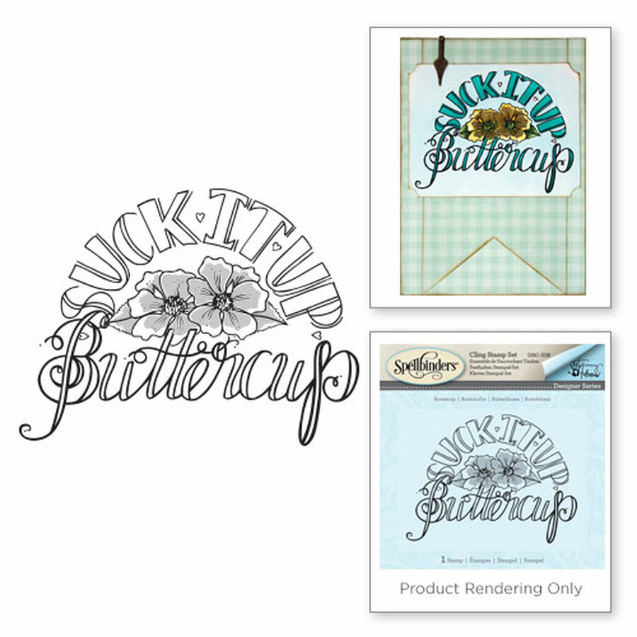Buttercup Happy Grams by Tammy Tutterow 3D Shading Stamps