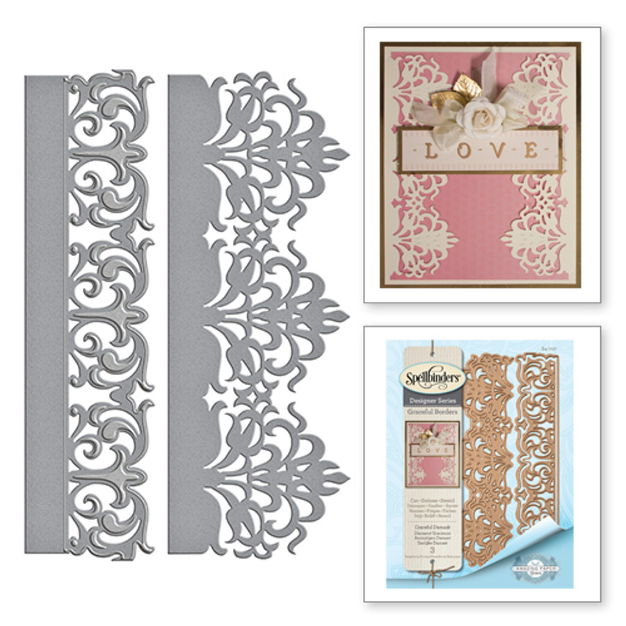 Graceful Damask Card Creator Amazing Paper Grace by Becca Feeken Etched Dies