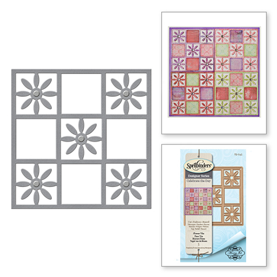 Shapeabilities Flower Tile Celebrate the Day Celebrate the Day by Marisa Job Etched Dies