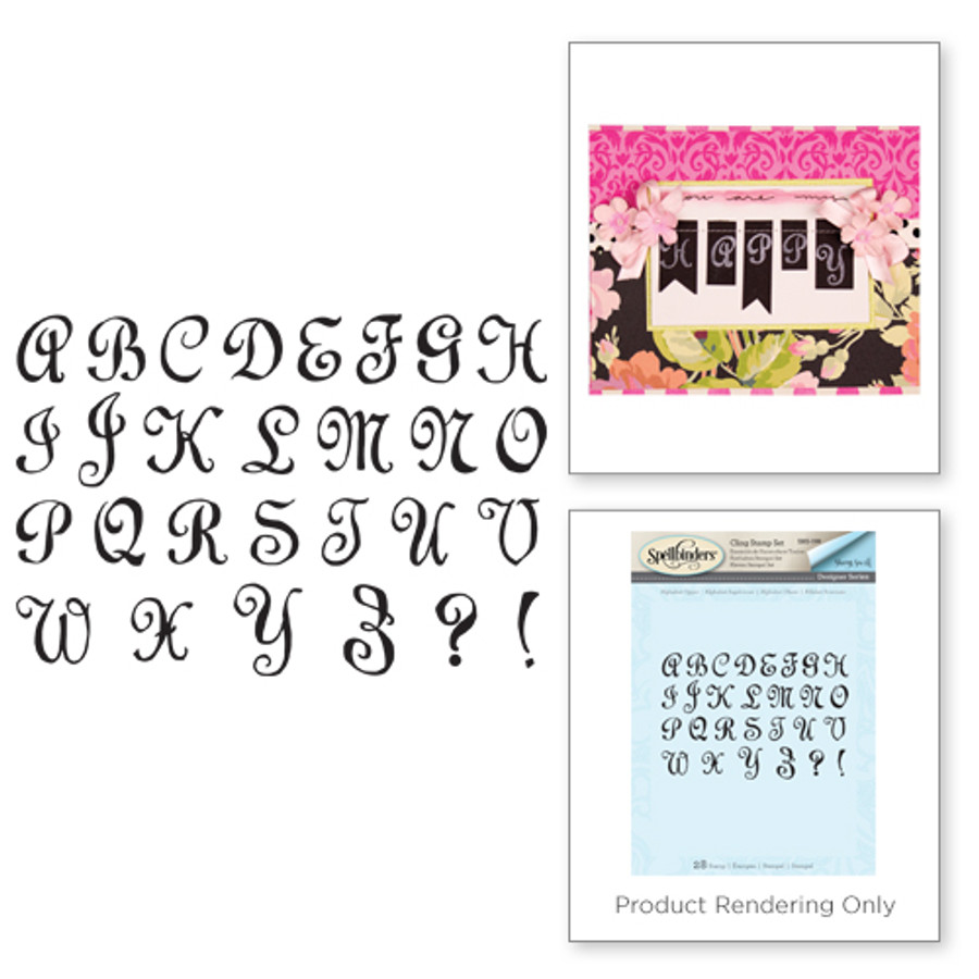 Alpha Upper Stamp Set from the Joyous Celebrations Collection by Sharyn Sowell