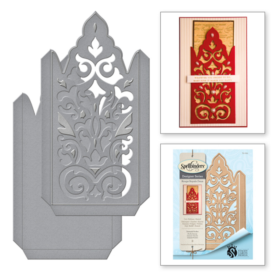 Shapeabilities Damask Pocket Etched Dies from the Rouge Royale Deux Collection by Stacey Caron