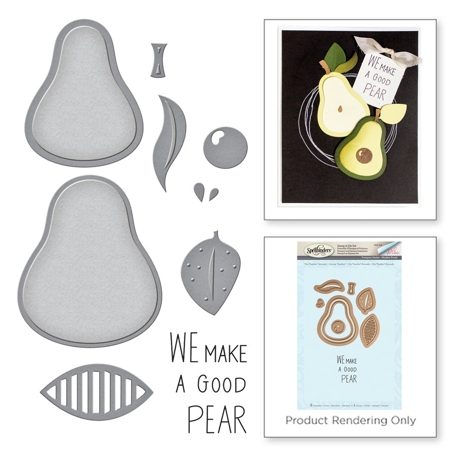Market Fresh by Debi Adams The Pearfect Avocado Stamp and Die Set