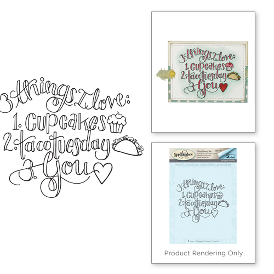 Things I Love Stamp from the Happy Grams #3 by Tammy Tutterow