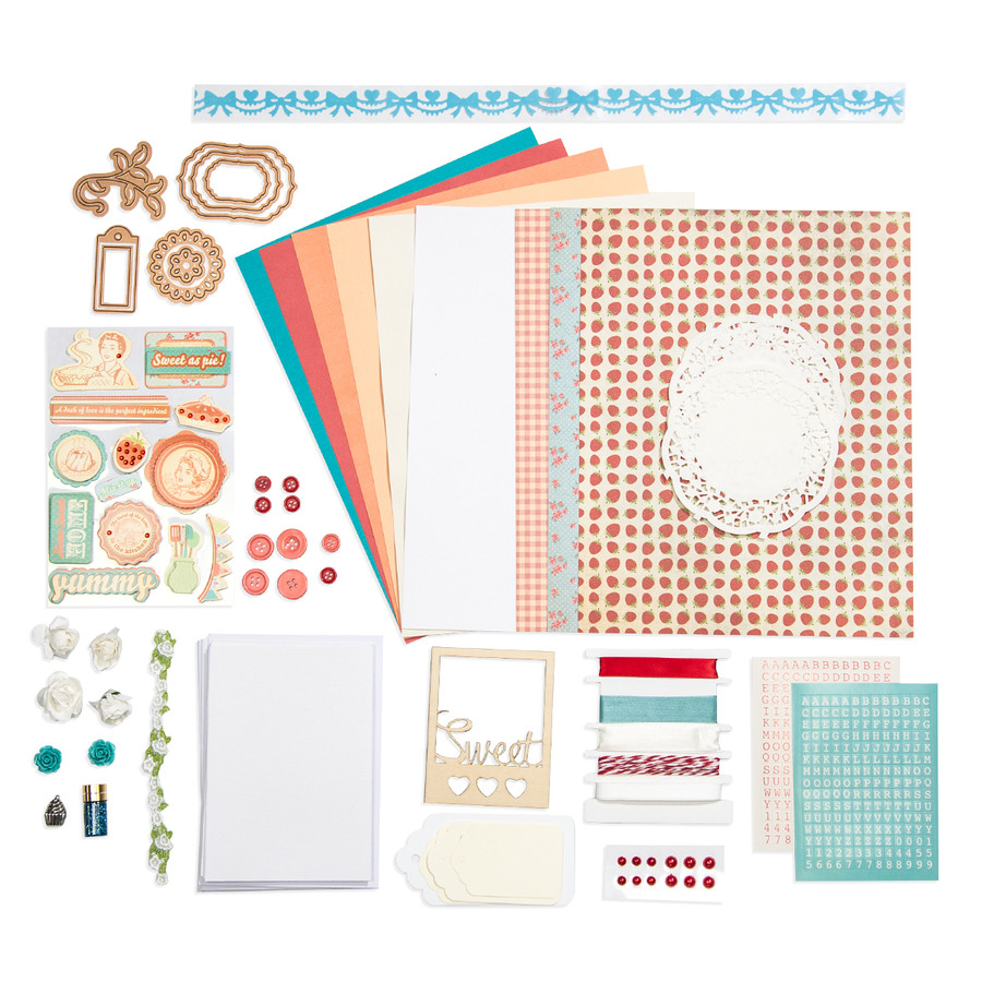 Orange & Coral Country Themed Card Kit - Card Kit of the Month Club