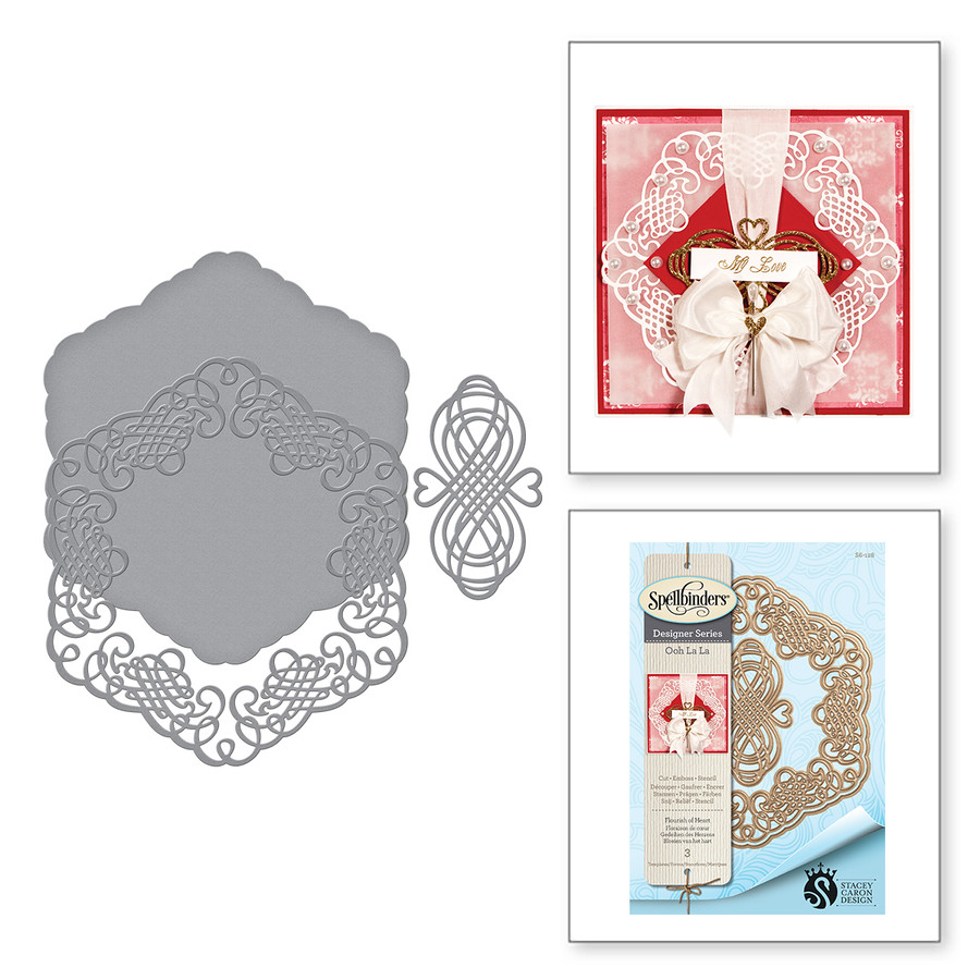 Shapeabilities Flourish of Heart Etched Dies Ooh La La Collection by Stacey Caron