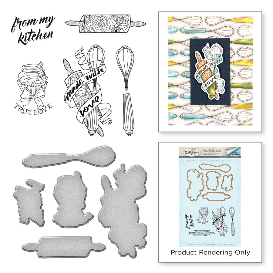 Kitchen Handmade by Stephanie Low Stamp and Die Set