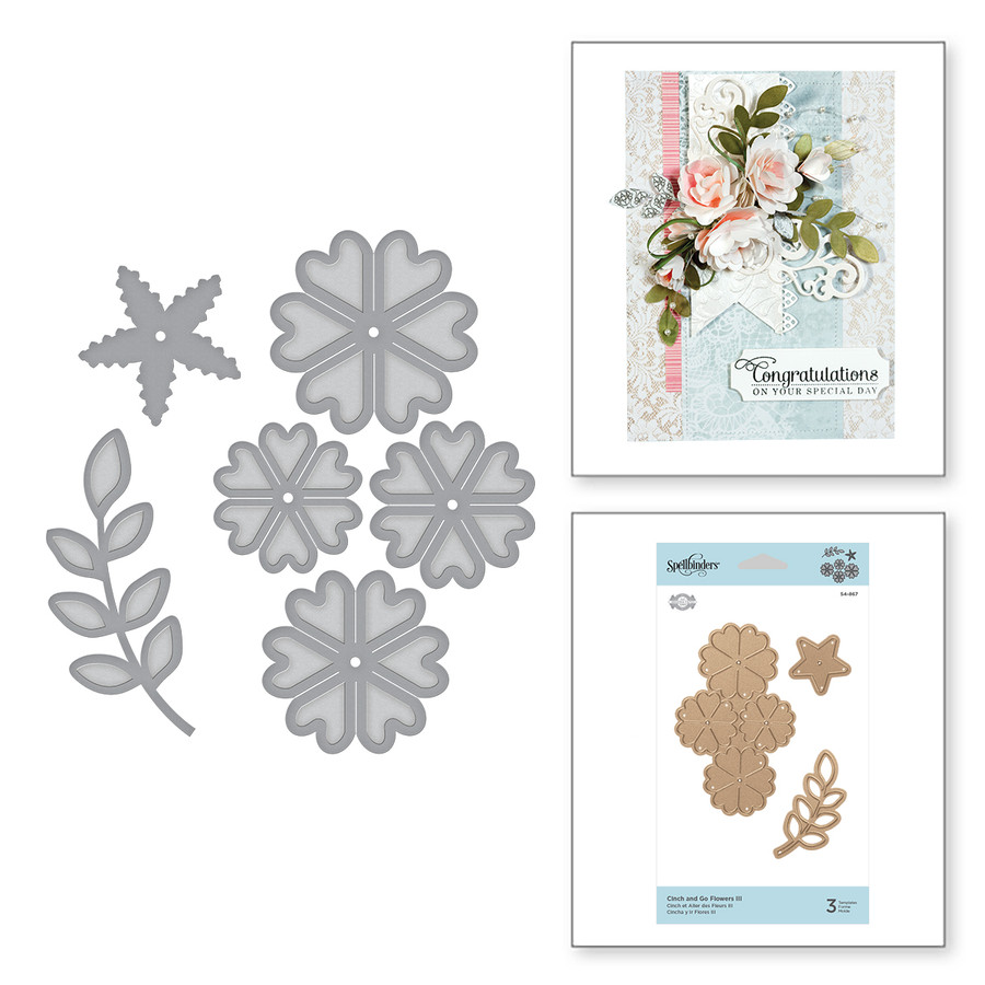 Shapeabilities Cinch and Go Flowers III Etched Dies Elegant 3D Vignettes by Becca Feeken