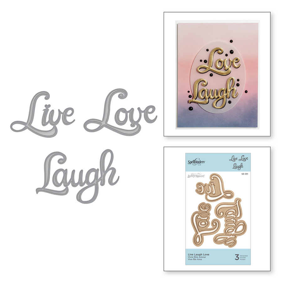 Shapeabilities Live Love Laugh Etched Dies On the Wings of Love Collection by Joanne Fink