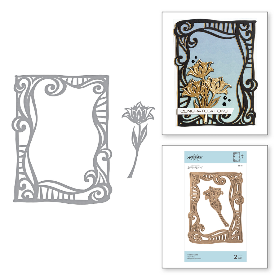 Shapeabilities Swirl Frame Etched Dies On the Wings of Love Collection by Joanne Fink