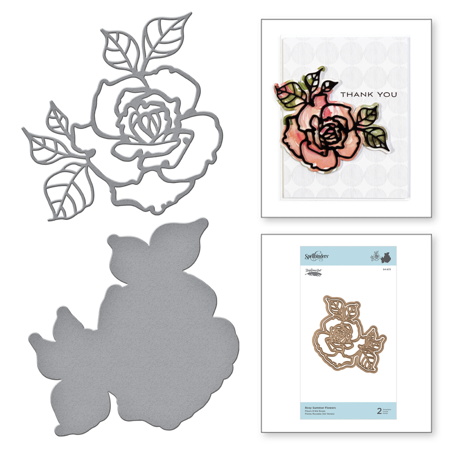 Shapeabilities Rosy Summer Flowers Etched Dies Good Vibes Only Collection by Stephanie Low