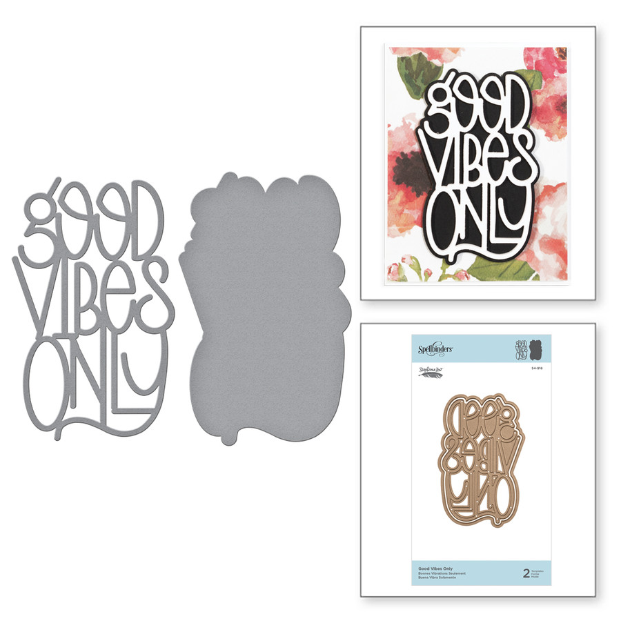 Shapeabilities Good Vibes Only Etched Dies Good Vibes Only Collection by Stephanie Low