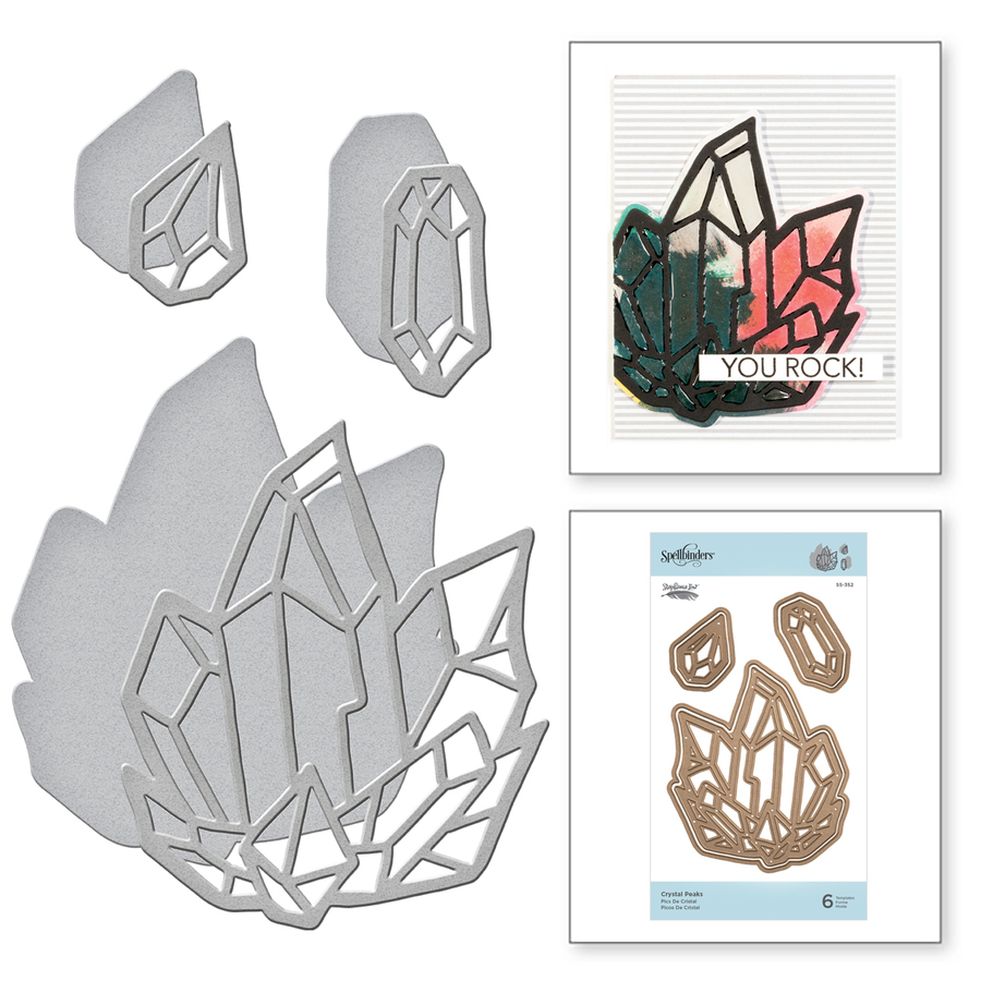 Shapeabilities Crystal Peaks Etched Dies Good Vibes Only Collection by Stephanie Low