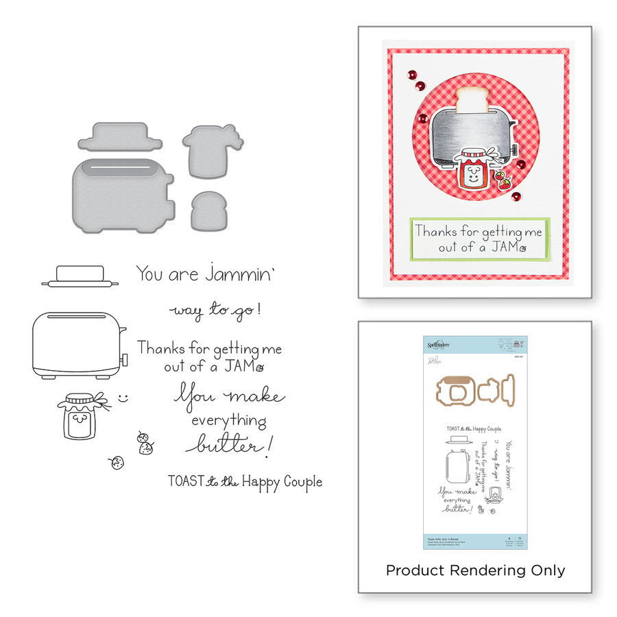 Toast with Jam 'n Bread Stamp and Die Set The Perfect Match by Debi Adams