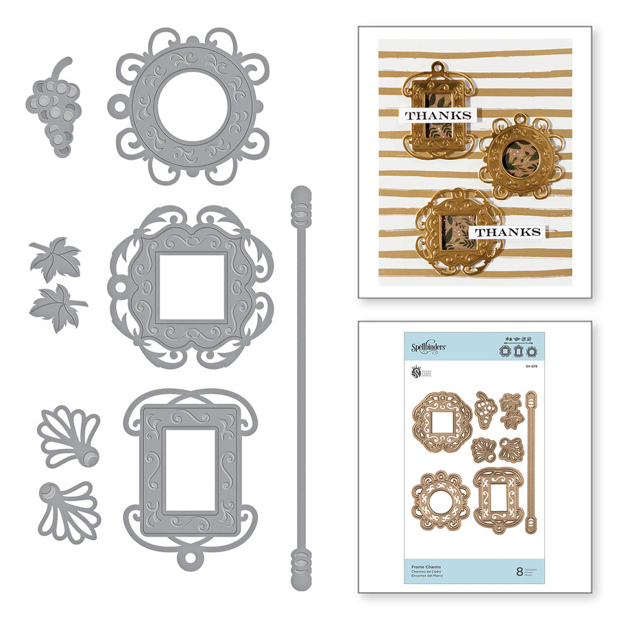 Shapeabilities Frame Charms Etched Dies Wine Country by Stacey Caron