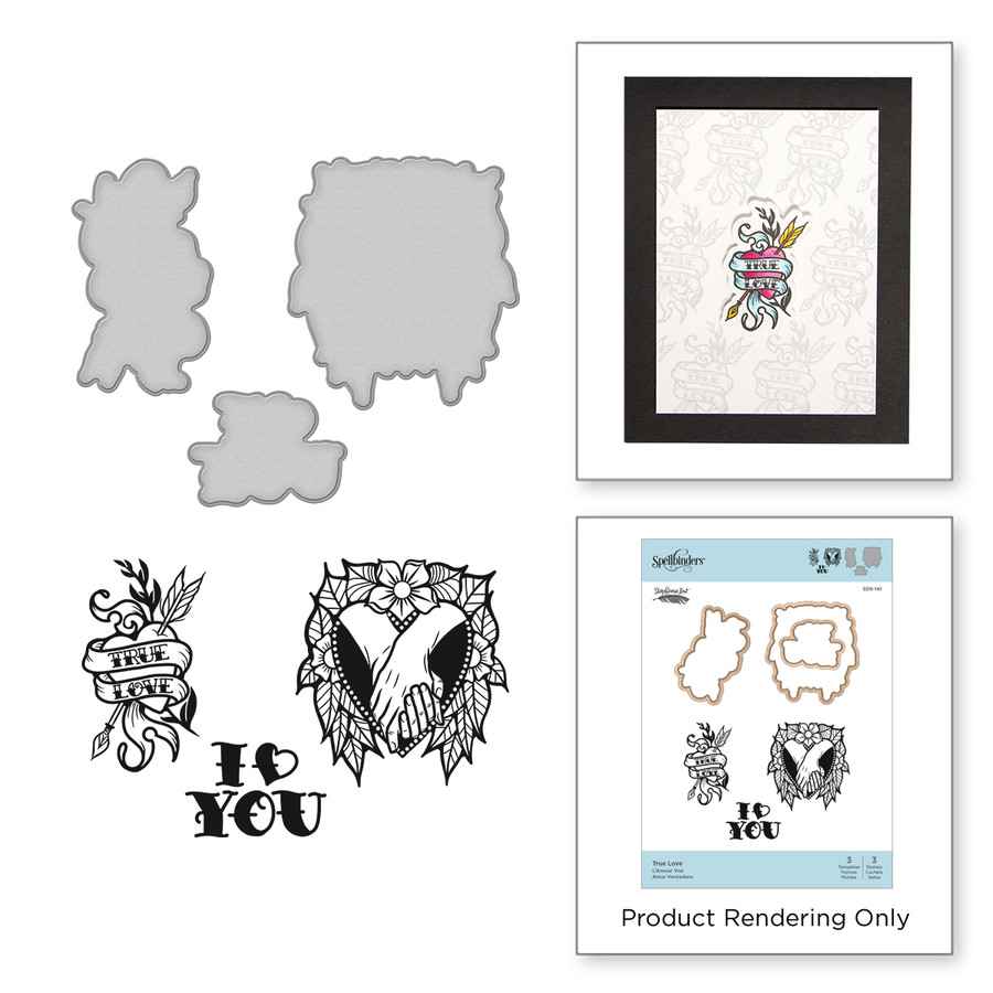 True Love Stamp and Die Set Inked Messages Collection by Stephanie Low