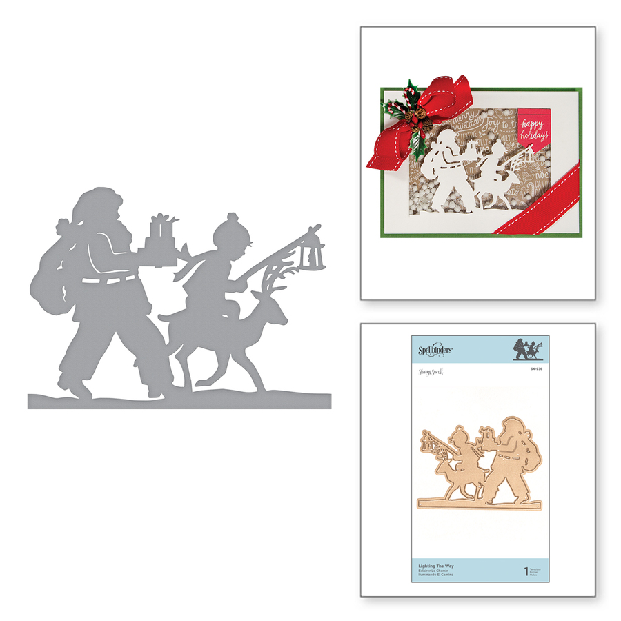 Shapeabilities Lighting the Way Etched Dies A Sweet Christmas by Sharyn Sowell