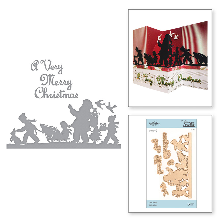 Shapeabilities Santa Parade Etched Dies A Sweet Christmas by Sharyn Sowell