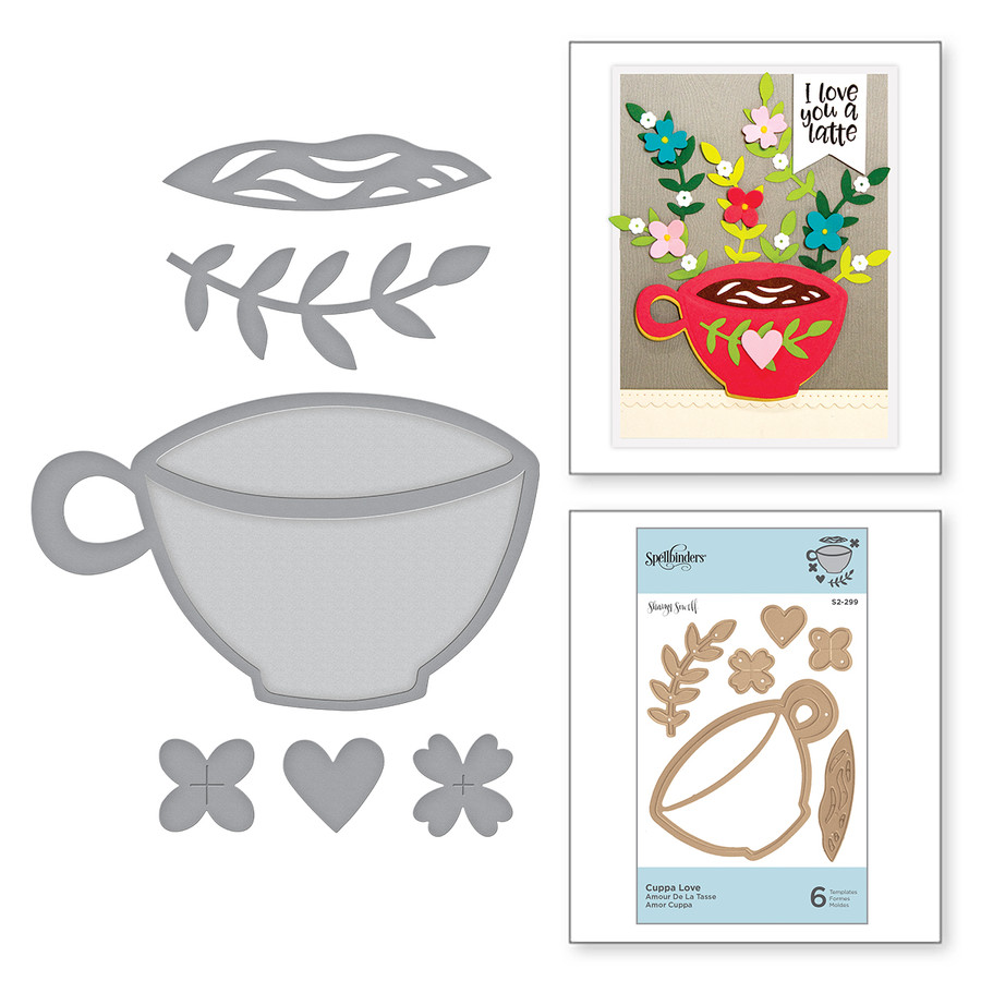 Die D-Lites Cuppa Love Etched Dies Cuppa Coffee, Cuppa Tea Collection by Sharyn Sowell