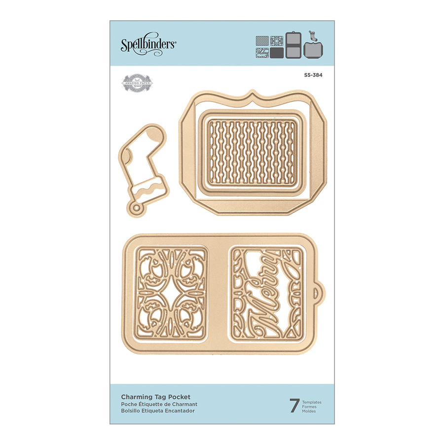 Shapeabilities Charming Tag Pocket Etched Dies A Charming Christmas Collection by Becca Feeken