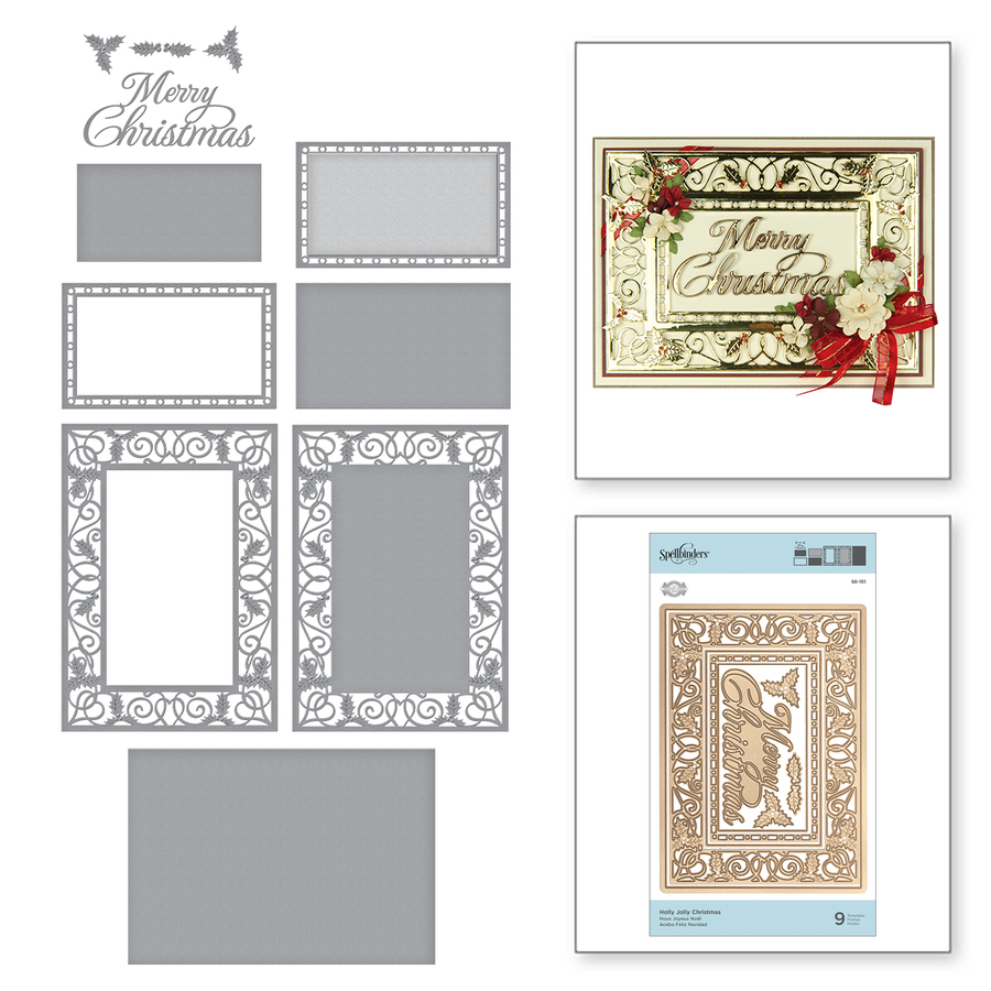 Shapeabilities Holly Jolly Christmas Etched Dies A Charming Christmas Collection by Becca Feeken