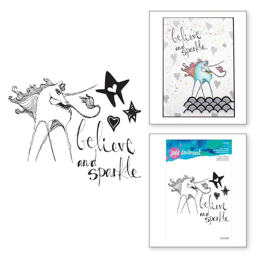 Unicorn Sparkle Clear Stamp Artomology Collection by Jane Davenport