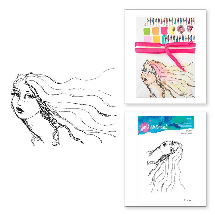 Hair Lines Clear Stamps Artomology Collection by Jane Davenport