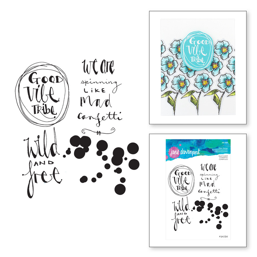Mad Confetti Clear Stamps Artomology Collection by Jane Davenport