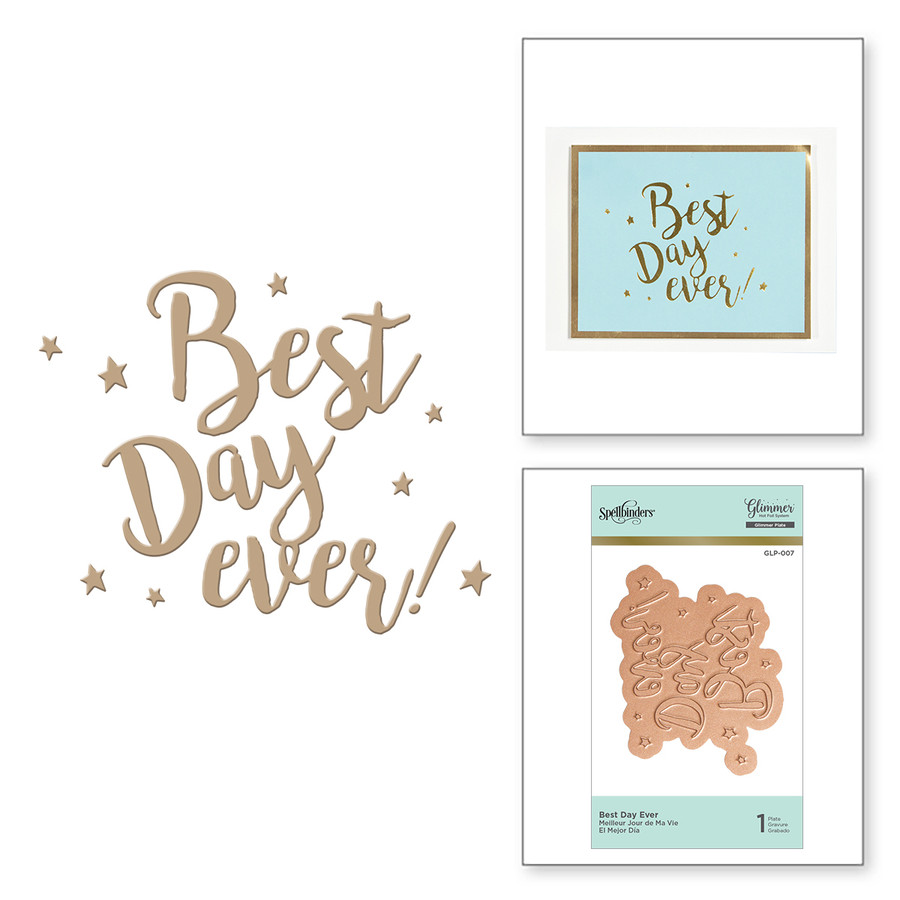 Best Day Ever Glimmer Hot Foil Plate