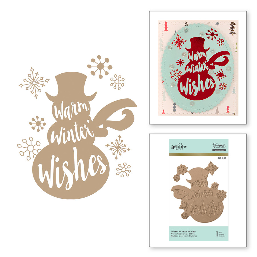 Warm Winter Wishes Holiday Glimmer Hot Foil Plate