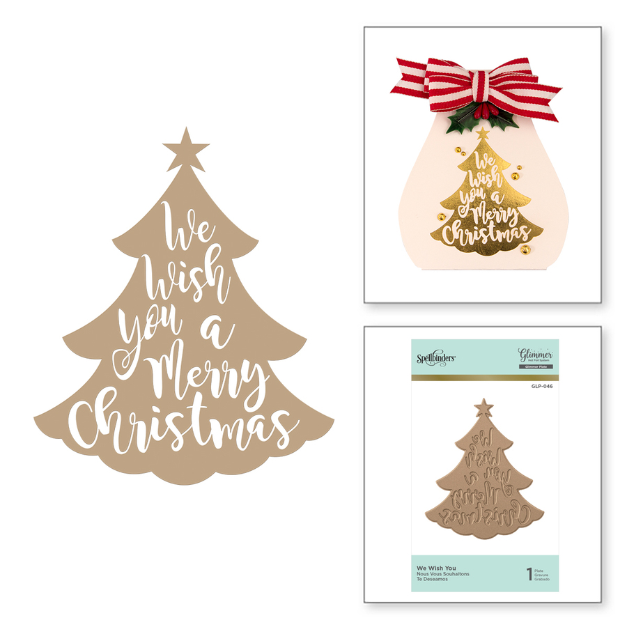 We Wish You Holiday Glimmer Hot Foil Plate