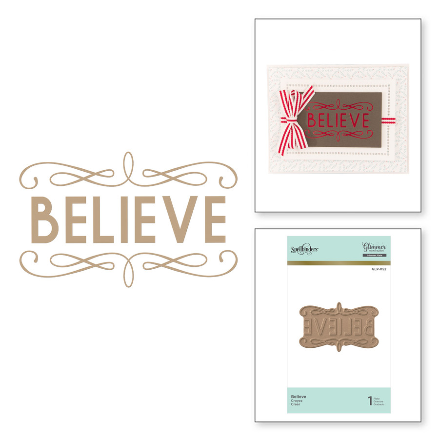 Believe Holiday Glimmer Hot Foil Plate