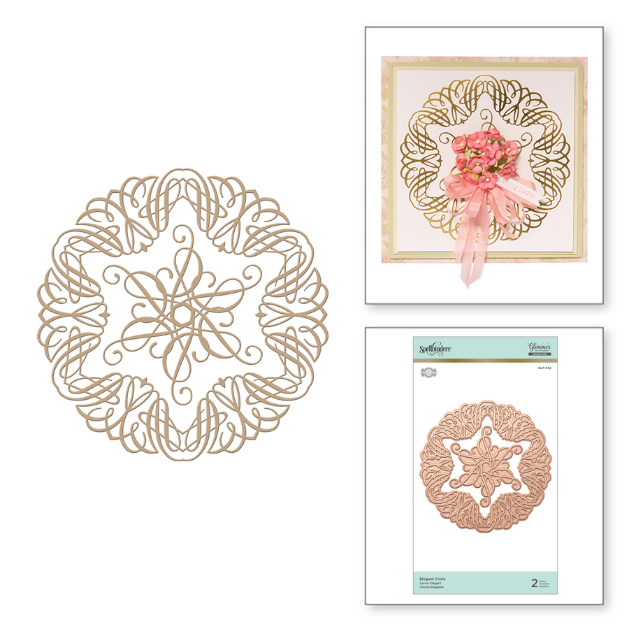 Elegant Circle Glorious Glimmer Hot Foil Classic Plates by Becca Feeken