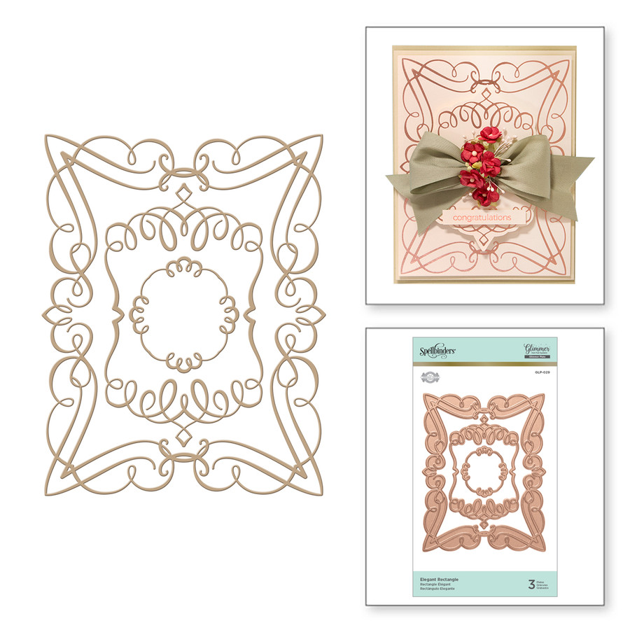 Elegant Rectangle Glorious Glimmer Hot Foil Classic Plates by Becca Feeken