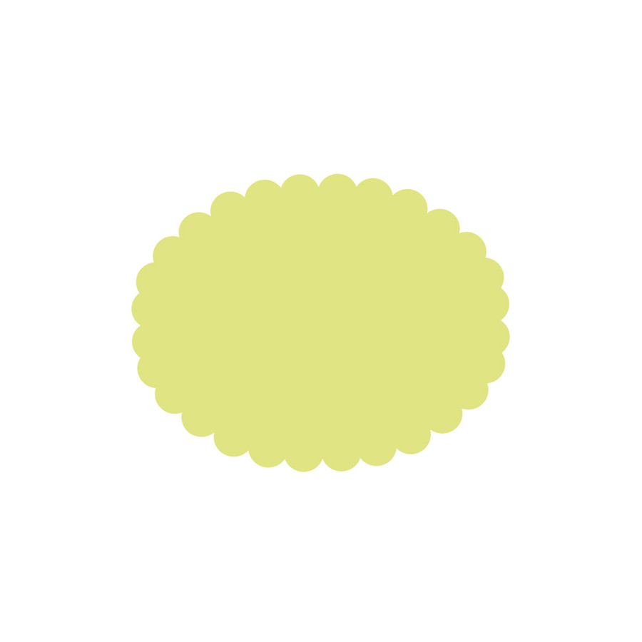 """1 3/4"""" Scalloped Oval Punch"""