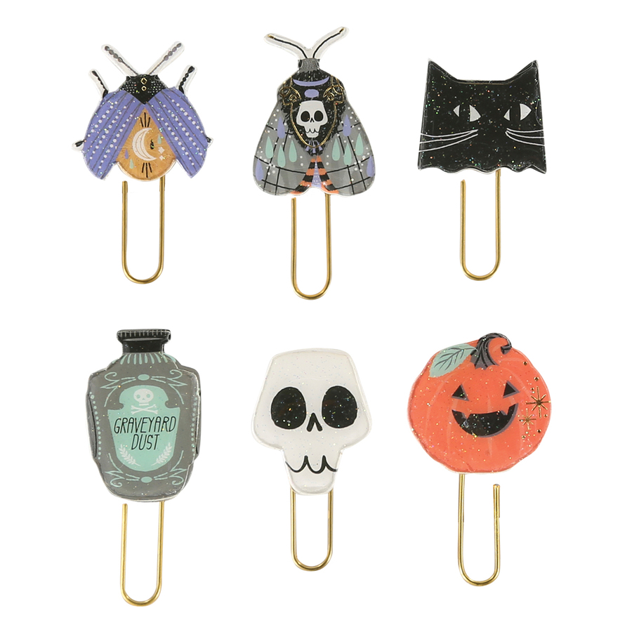All Hallows Eve Chipboard & Epoxy Clips