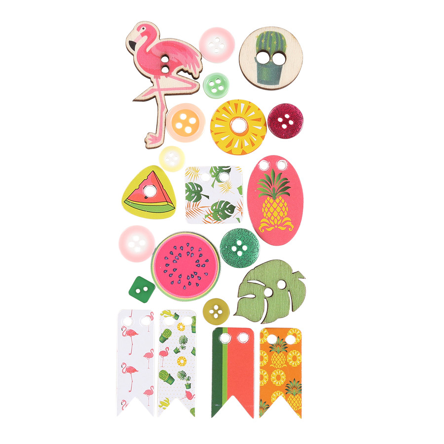 Flamingo Life Embellishment Pack