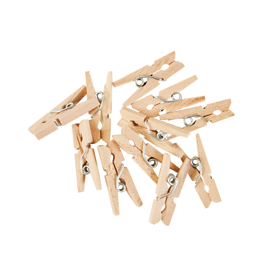 Mini Wooden Clothespins