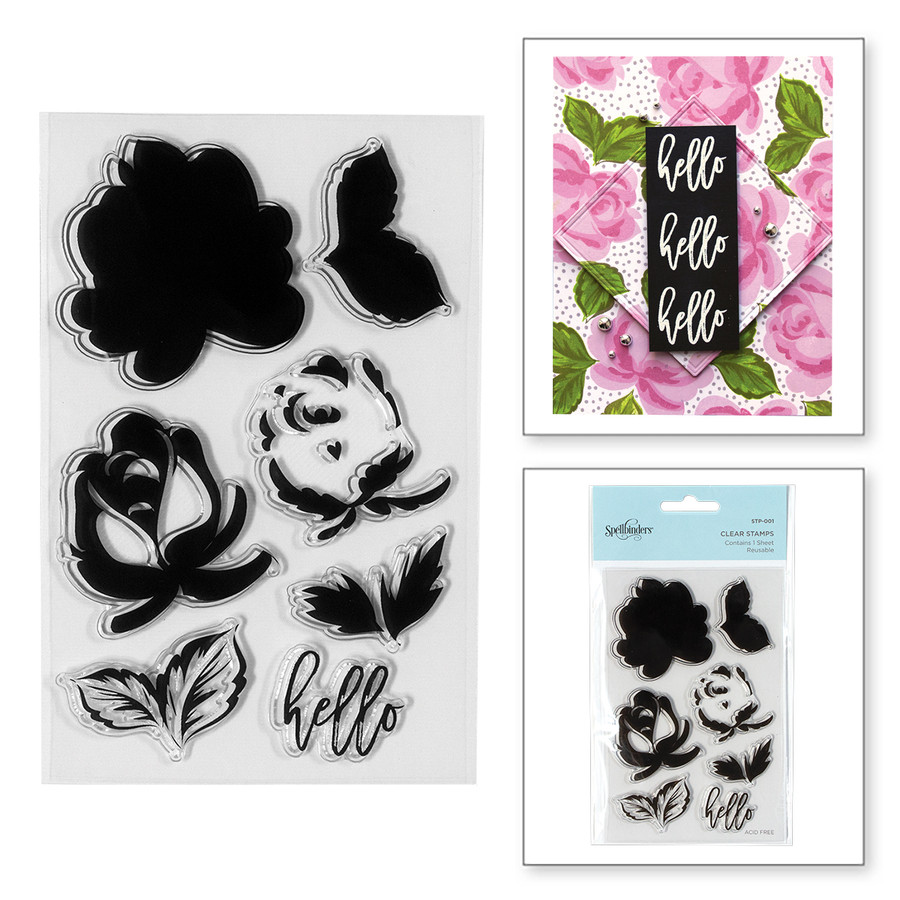 Layered Rose Clear Stamps