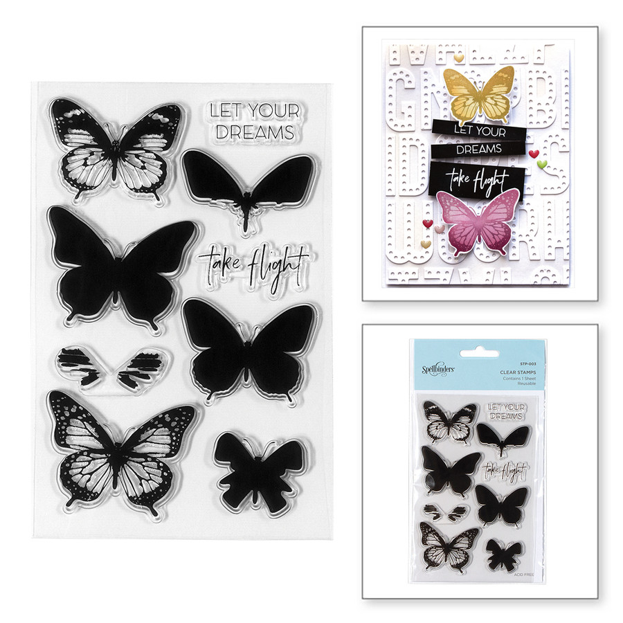 Layered Butterflies Clear Stamps