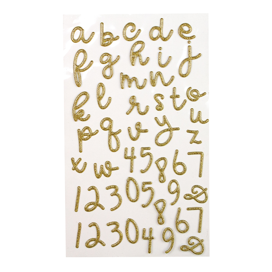 Winter Wishes Gold Glitter Alphabet Stickers - Card Kit of the Month Extras