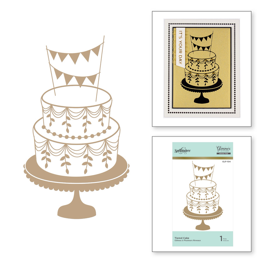 Tiered Cake Glimmer Hot Foil Plate
