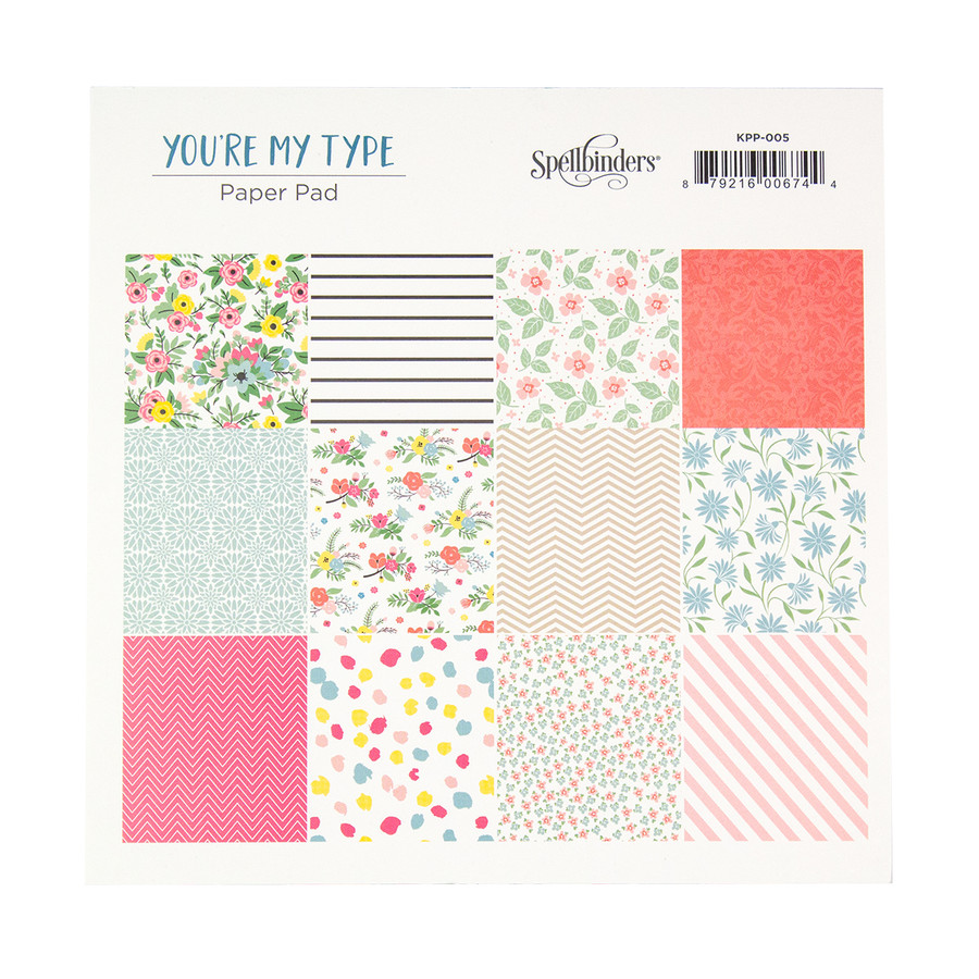 You're My Type Paper Pad - Card Kit of the Month Extras