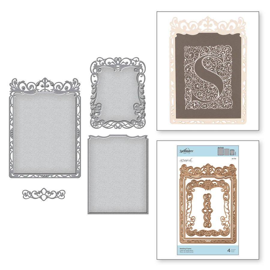 Nesting Frame Etched Dies PA Scribe by Paul Antonio